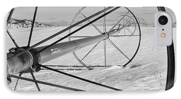 Irrigation Pipe In Winter Phone Case by Theresa Tahara