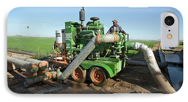 Irrigation Pump IPhone Case by Jim West