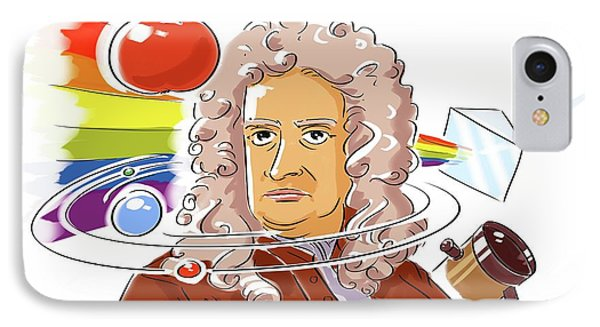Isaac Newton IPhone Case by Harald Ritsch