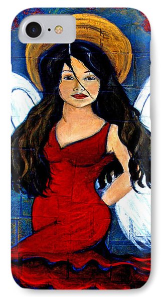 Isabella  A Spanish Earth Angel From Cultures Around The World Phone Case by The Art With A Heart By Charlotte Phillips