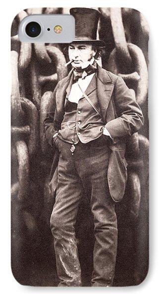 Isambard Kingdom Brunel  IPhone Case by Robert Howlett