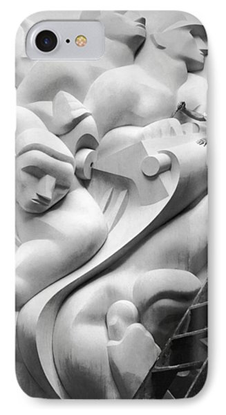 Isamu Noguchi Working IPhone Case by Underwood Archives