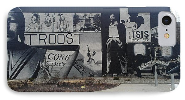 Isis Theater 3102 Troost Ave Kansas City Mo Side Of The Building Tribute Phone Case by Sonya Wilson