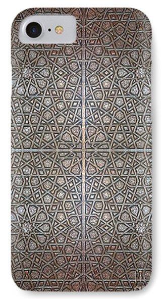 Islamic Wooden Texture IPhone Case by Antony McAulay