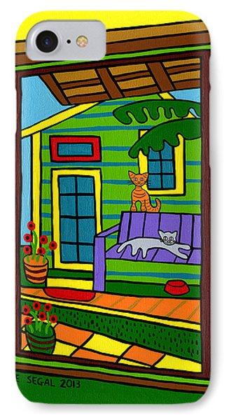 Island Arts Garden - Cedar Key IPhone Case