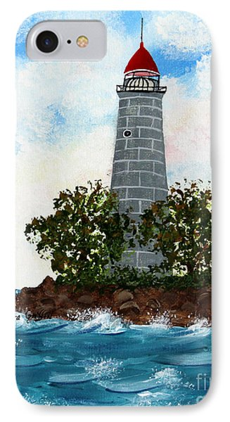 Island Lighthouse Phone Case by Barbara Griffin