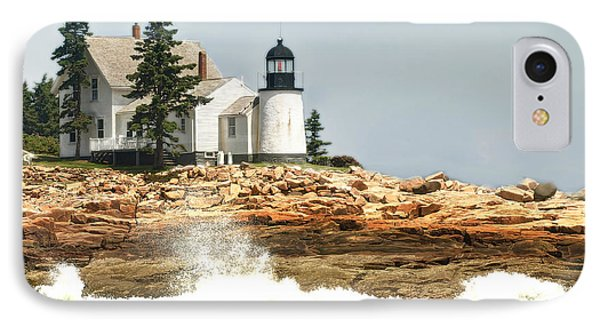 Island Lighthouse IPhone Case by Raymond Earley