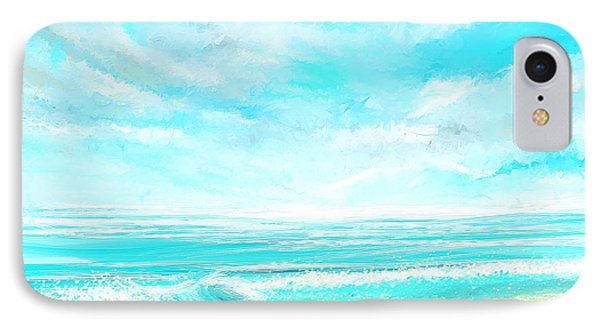 Island Memories - Seascapes Abstract Art IPhone Case by Lourry Legarde