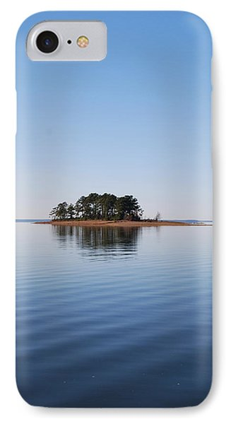 Island On Lake Sam Rayburn IPhone Case