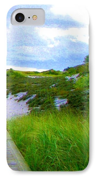 Island State Park Boardwalk IPhone Case by Pamela Hyde Wilson