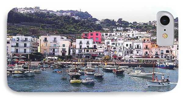 IPhone Case featuring the photograph Isle Of Capri by Ze  Di