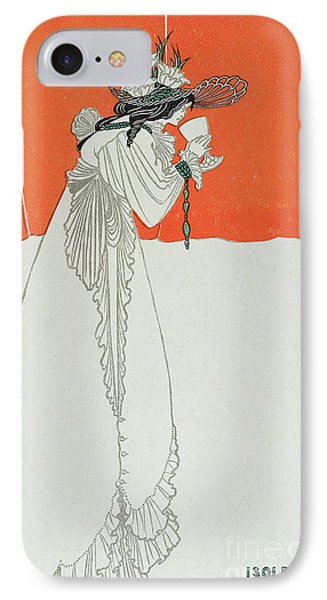 Isolde Drinking The Poison IPhone Case by Aubrey Beardsley