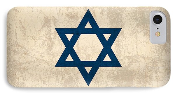 Israel Flag Vintage Distressed Finish IPhone Case by Design Turnpike