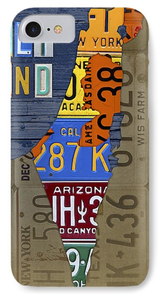Israel The Holy Land Map Made With Recycled Usa License Plates IPhone Case
