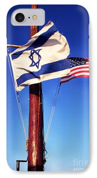 Israeli Flag And Us Flag IPhone Case