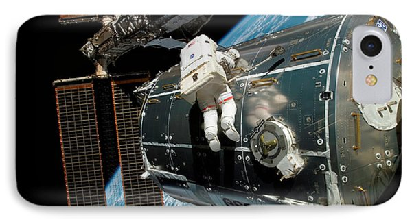 Iss Columbus Module Installation IPhone Case by Nasa
