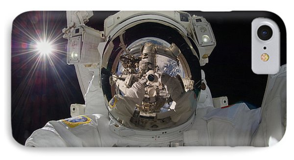 Iss Expedition 32 Spacewalk Phone Case by Nasa Jsc