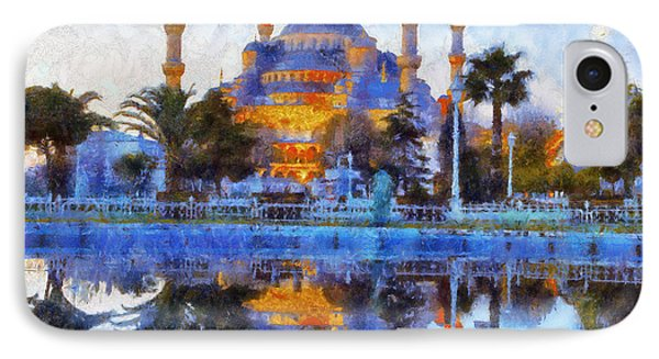 Istanbul Blue Mosque  IPhone Case by Lilia D