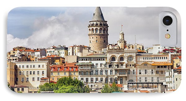 Istanbul Cityscape And Galata Tower Phone Case by Artur Bogacki