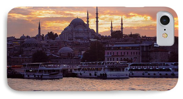Istanbul Port Sunset IPhone Case by Haleh Mahbod