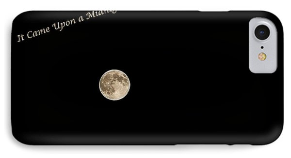 IPhone Case featuring the photograph It Came Upon A Midnight Clear  by Rhonda McDougall
