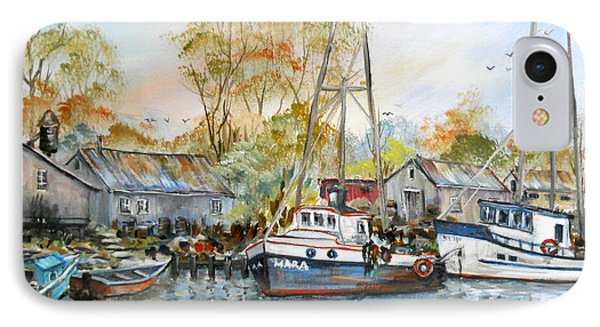 It Is A Busy Day Here At The Marina IPhone Case by Dorothy Maier