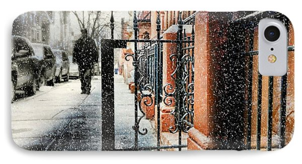It Snows In Harlem IPhone Case by Diana Angstadt