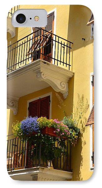 Italian Balconies IPhone Case by Corinne Rhode
