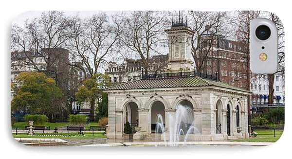 Italian Fountain In London Hyde Park Phone Case by Semmick Photo