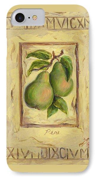 Italian Fruit Pears IPhone Case by Marilyn Dunlap