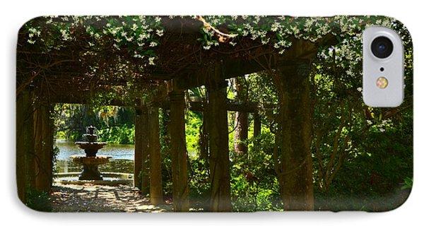 Italian Garden Pergola And Fountain IPhone Case