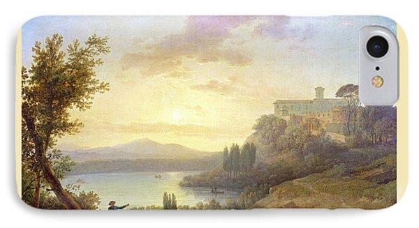 Italian Landscape, Setting Sun IPhone Case by Jean-Francois Hue