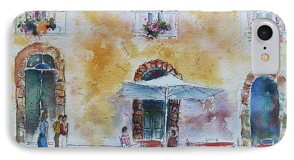 Italian Piazza Phone Case by Carolyn Jarvis
