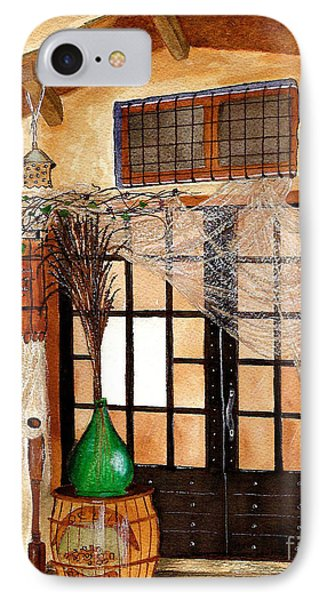 IPhone Case featuring the painting Italian Restaurant  by Nan Wright