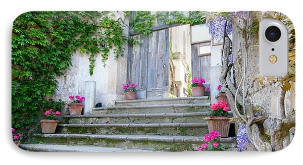 Italian Staircase With Flowers IPhone Case