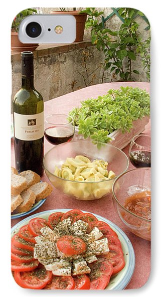 Italy, Positano Meal Of Antipasti IPhone Case by Jaynes Gallery
