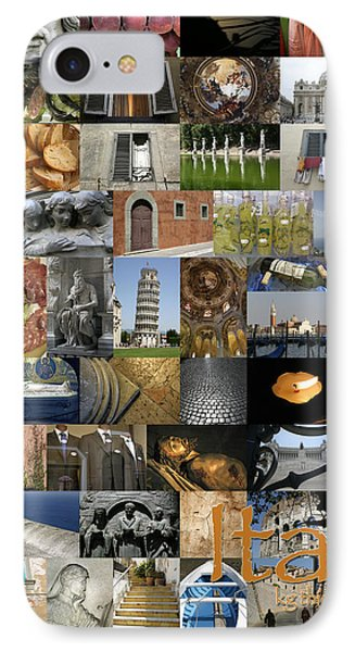 Italy Poster IPhone Case by KG Thienemann