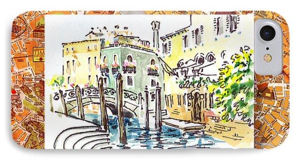 Italy Sketches Venice Canale IPhone Case by Irina Sztukowski