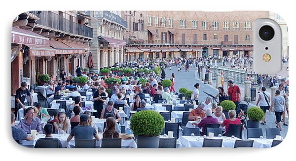 Italy, Tuscany, Piazza Del Campo - IPhone Case