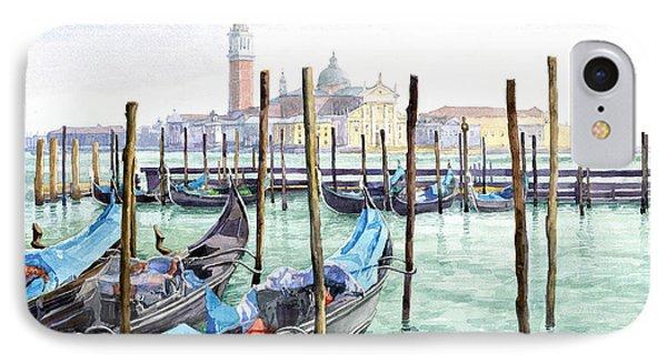 Italy Venice Gondolas Parked IPhone Case by Yuriy Shevchuk