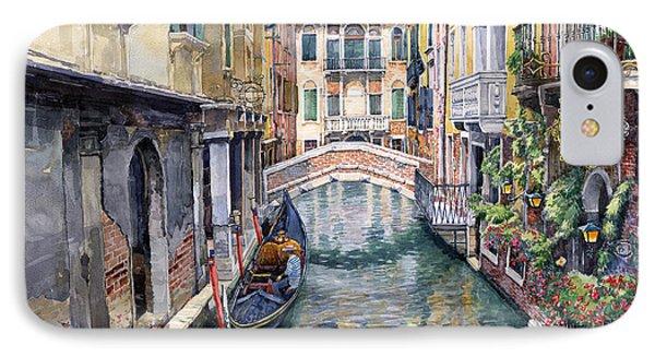 Italy Venice Trattoria Sempione IPhone Case by Yuriy Shevchuk