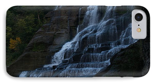 Ithaca Falls At Dusk Phone Case by Anna Lisa Yoder
