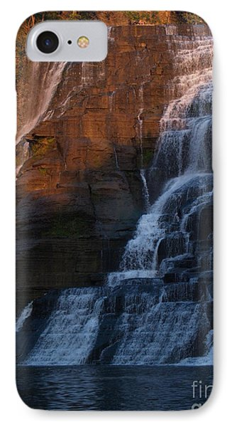 Ithaca Falls In Autumn Phone Case by Anna Lisa Yoder