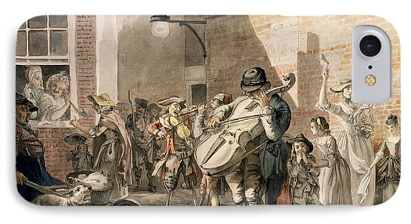 Itinerant Musicians Playing In A Poor Phone Case by Paul Sandby