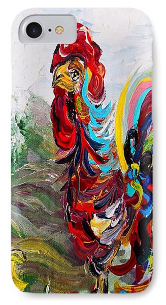 It's A Cockadoodle Do Morning - Portrait Version Phone Case by Eloise Schneider
