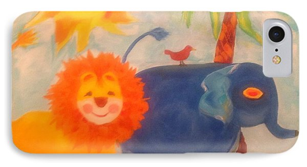 It's A Jungle Out There Phone Case by Wendy Lewis