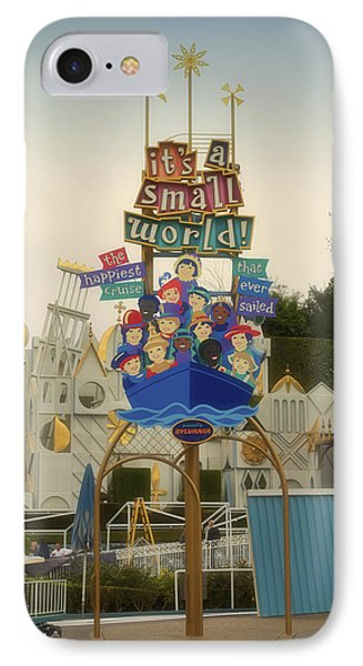 Its A Small World Fantasyland Signage Disneyland IPhone Case by Thomas Woolworth