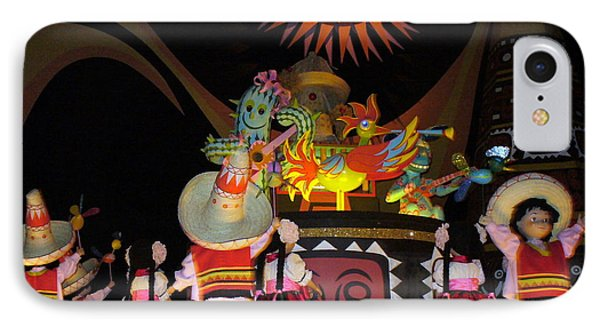 It's A Small World With Dancing Mexican Character IPhone Case by Lingfai Leung