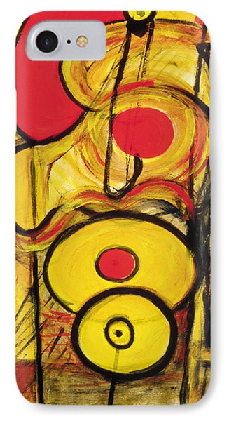 IPhone Case featuring the painting It's All Relative by Stephen Lucas