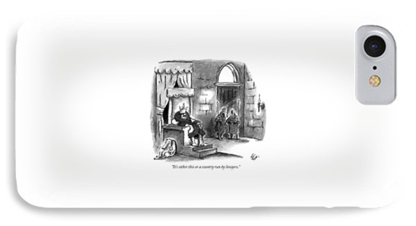 It's Either This Or A Country Run By Lawyers IPhone Case by Frank Cotham